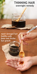 Thinning Hair Overnight hair oil remedy
