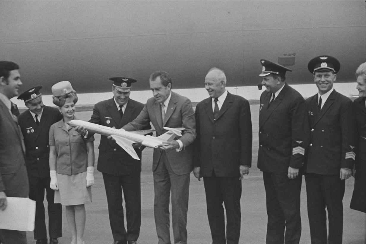 1972. Первый официальный визит действующего президента США в СССР. Ричард Никсон и Алексей Косыгин