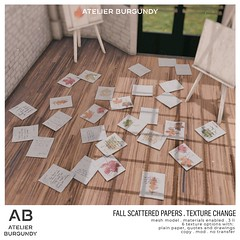 Atelier Burgundy . Fall Scattered Papers