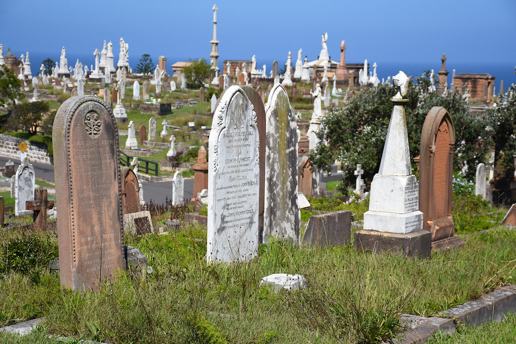 Waverley Cemetery, Bronte, Sydney, NSW.