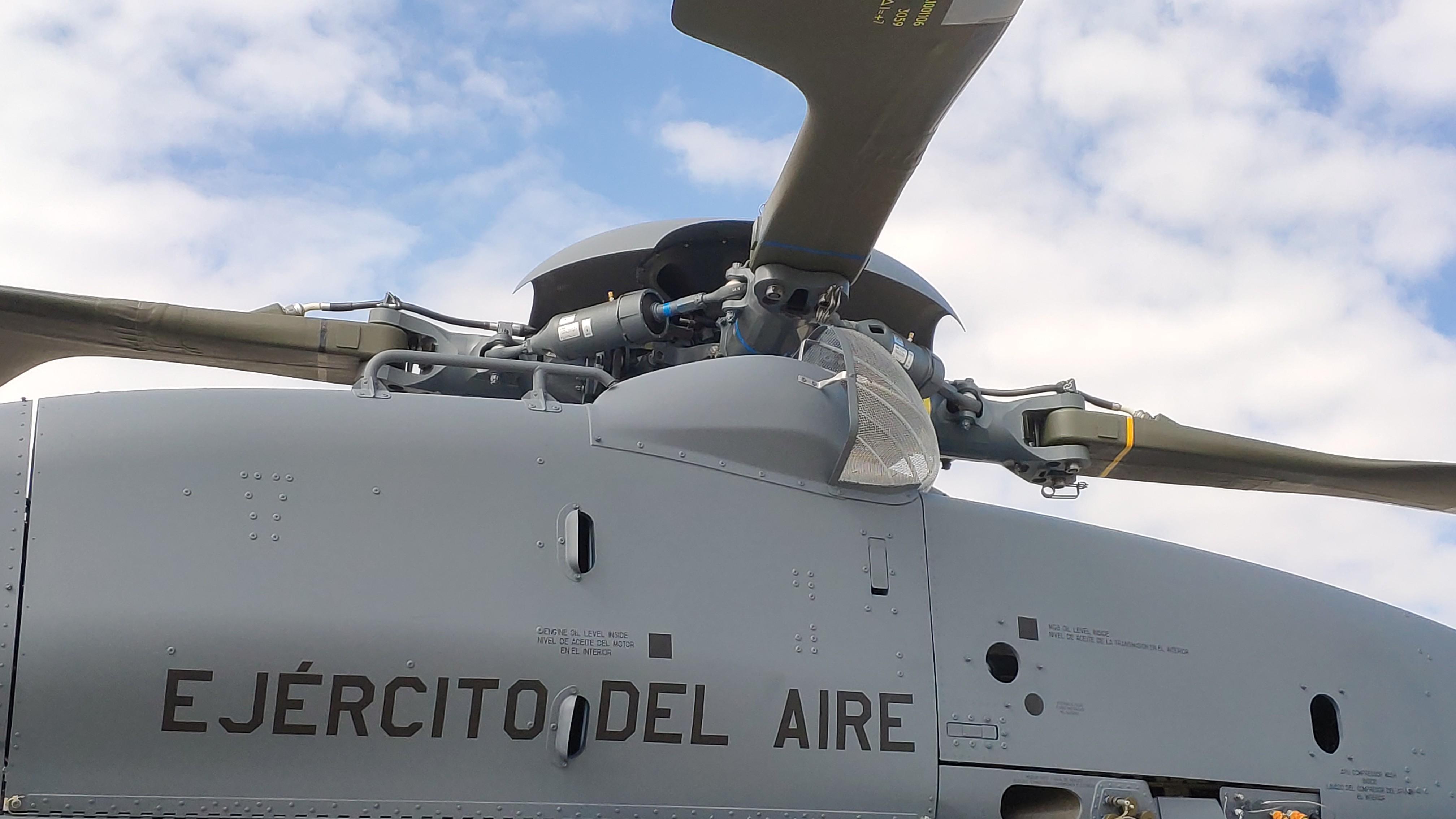 Detalle del rotor del NH-90