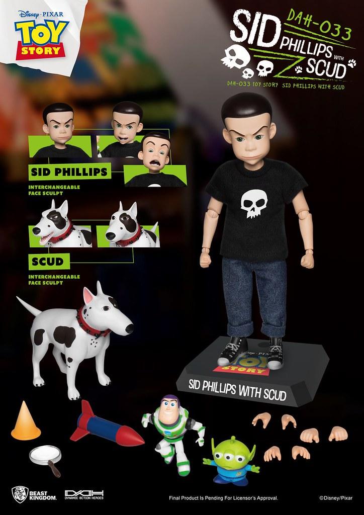 野獸國 DAH系列《玩具總動員》阿薛 可動人偶!玩具破壞狂與兇猛惡犬來啦