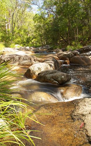 australia queensland gympie motharmountain creek river water rocks bolders waterfalls landscape trees vista hinterland