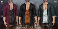 Volver - Adam Cardigan with T-shirt