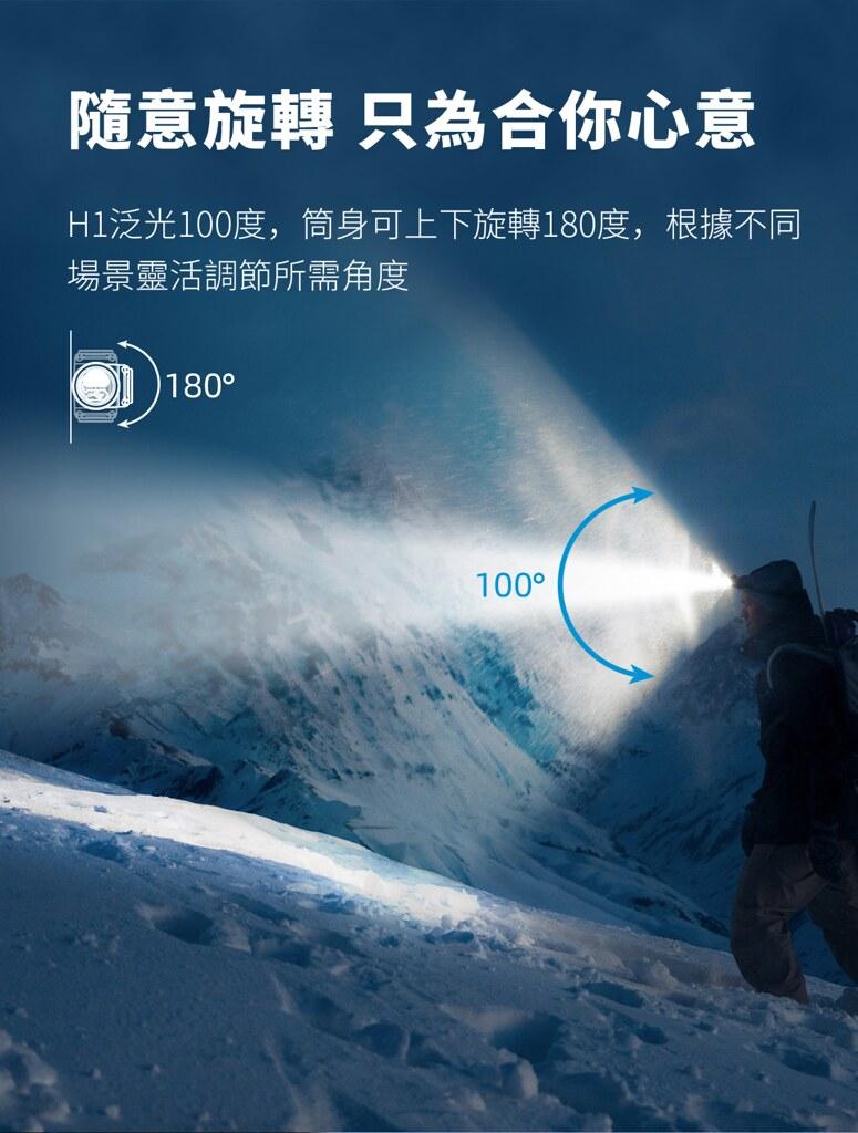 WUBEN H1 1200流明 戶外多光源 頭燈 白光 紅光 高顯色中白光-6