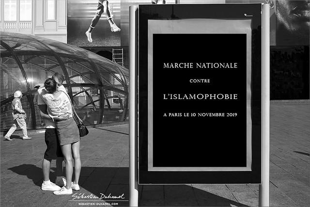 Suite à l'attentat contre la mosquée de Bayonne le 28 octobre 2019, Marche contre l'Islamophobie à Paris →  Paris le 10 novembre 2019 | Place de la République → Place de la Nation