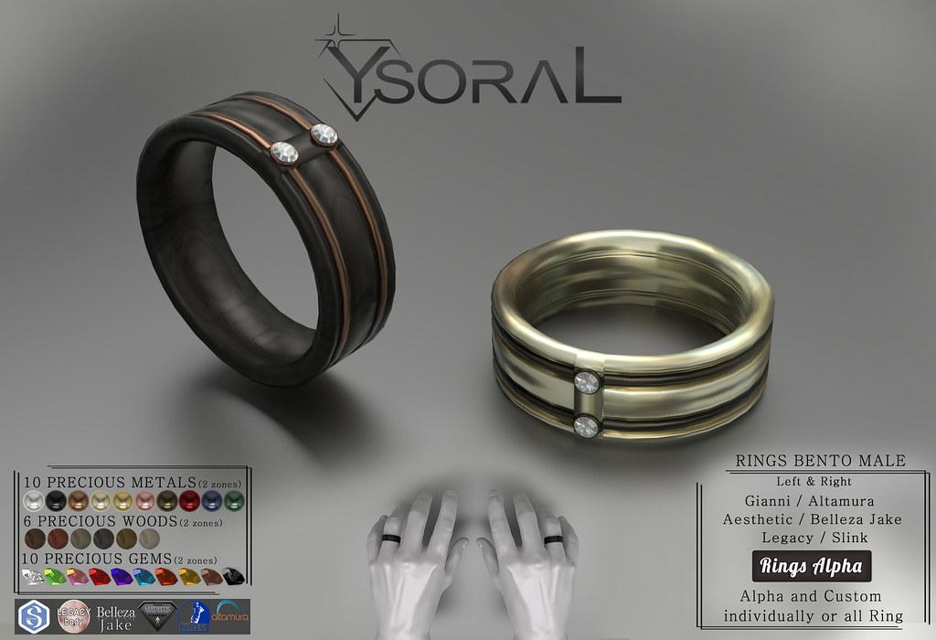 ~~ Ysoral ~~.:Luxe Set Rings Arthur:.(BENTO)
