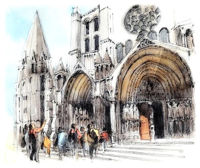 Chartres - France - cathédrale , portails sud