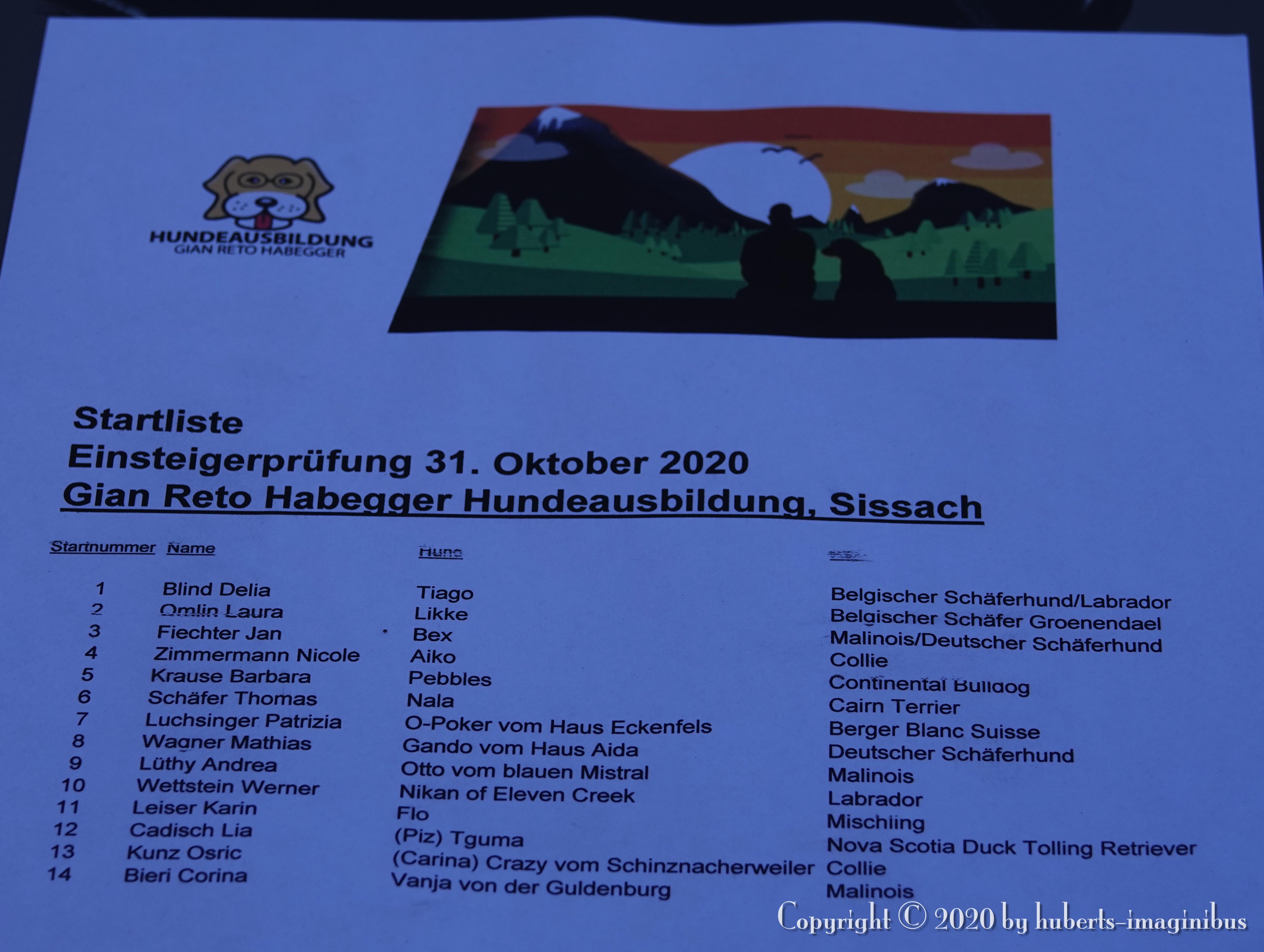 Einsteigerprüfung, 31.10.2020 in Sissach
