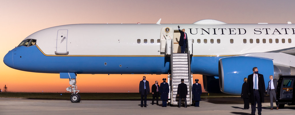 President Trump Boards Air Force One