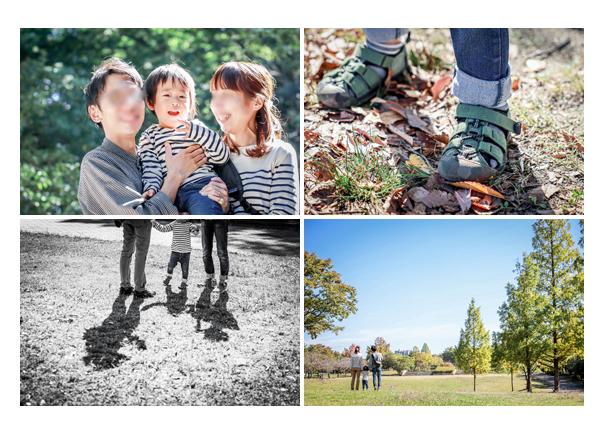 秋の平和公園でファミリーフォト ロケーション撮影 名古屋市