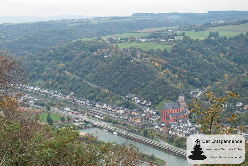 Rheinsteig: Blick auf Oberwesel