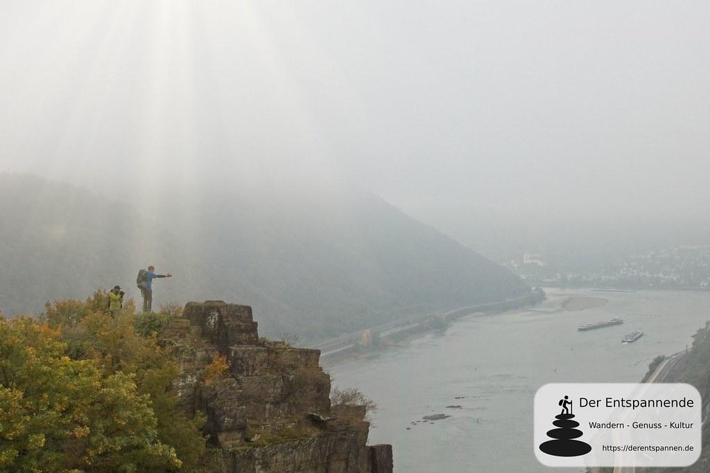 Wolfgang Blum auf der Felsformation Spitznack (mit gefakter Sonne...)