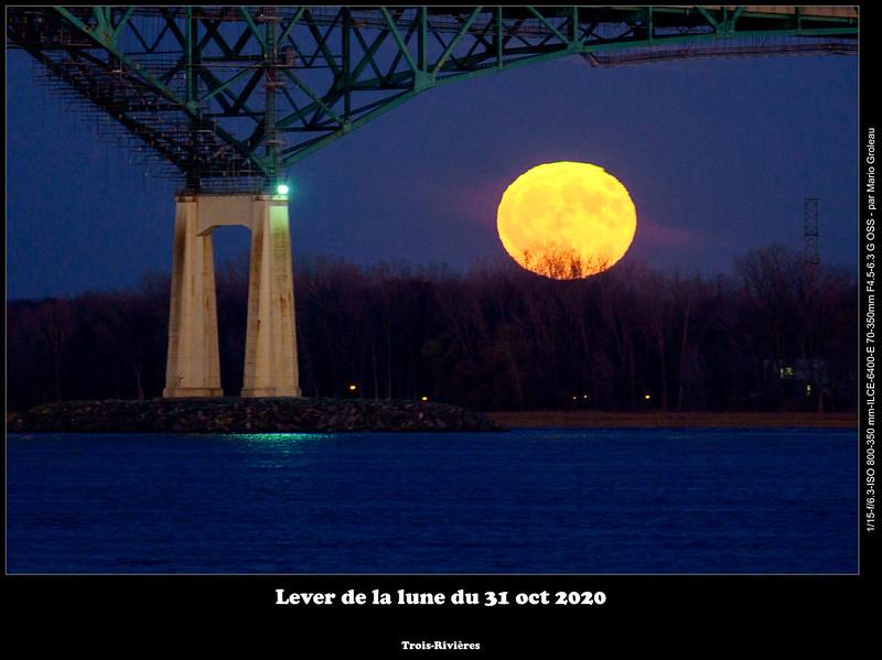 Lever de la lune du 31 oct 2020