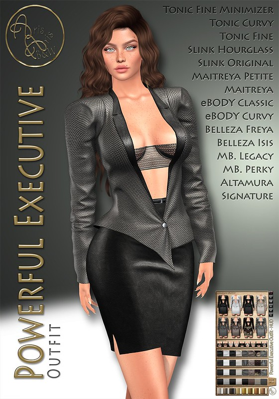 70% OFF! 99L$ Limited PROMO***ArisArisB&W ~ Powerful Executive Outfit ~ CUSTOM HUD