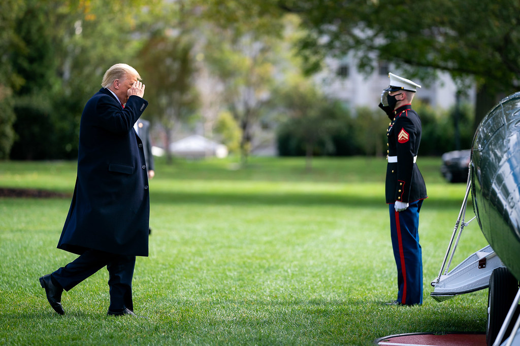 President Trump Boards Marine One