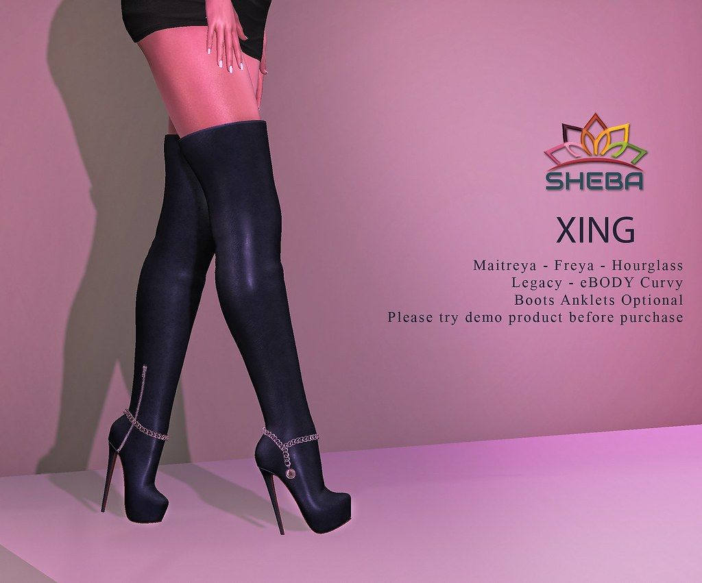 [Sheba] Xing Thigh High Boots @Cosmopolitan Event
