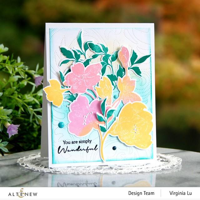 Altenew-Pen Sketched Silhouette Stamp Set-Pen Sketched Silhouette Die Set-Dotted Swirl Cover Die
