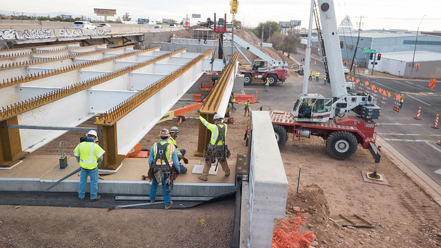 I-17 and Central Avenue Girder Placement 103120