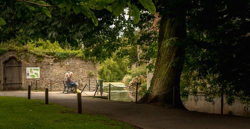 landscape castle wells explore travel moat tree