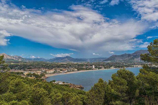 Vista de El Albir, Benidorm (Alicante). Comunidad Valenciana, España.