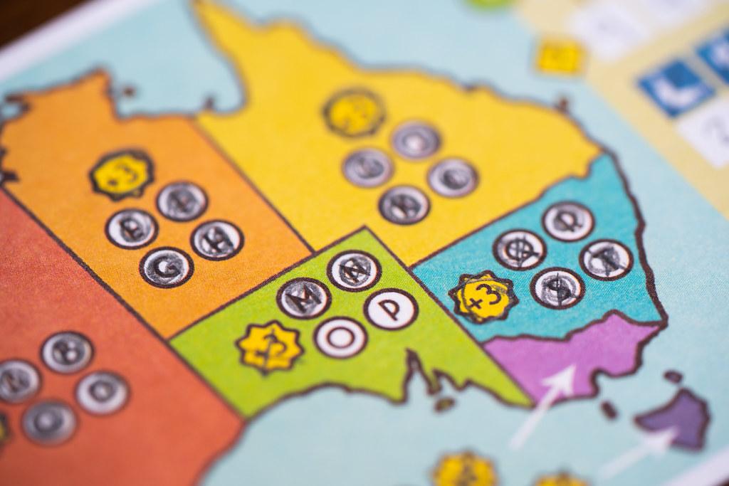 Boomerang: Australia boardgame juego de mesa