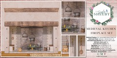 Simply Shelby Medieval Kitchen Fireplace Set PG Rated