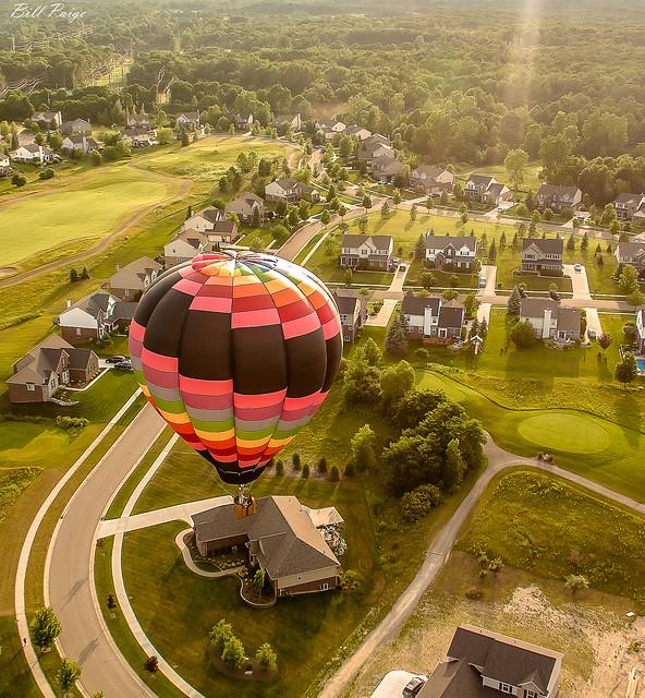 Balloon Flight Over Michigan