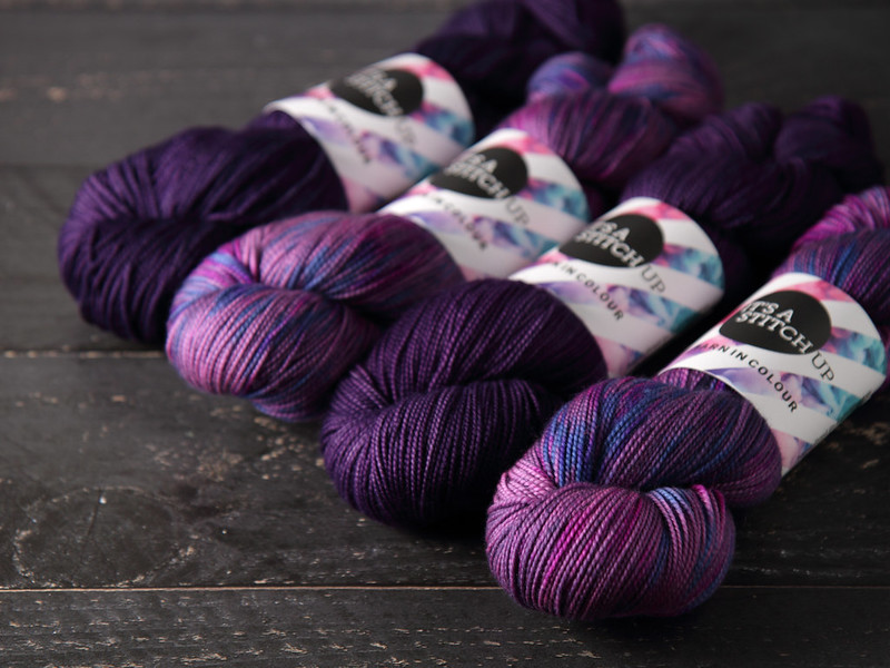 It's a Stitch Up Favourite Sock in Brixton Purple and The Grey-ish Area