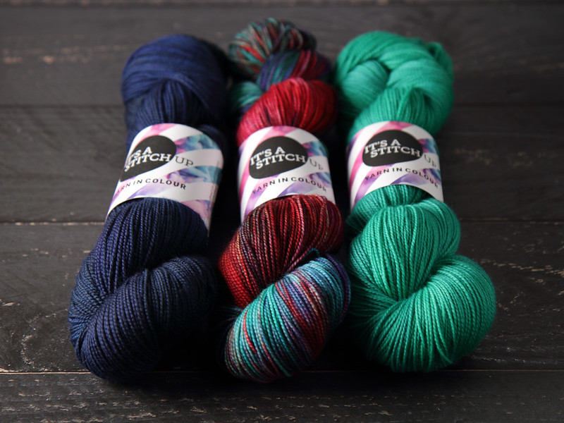 It's a Stitch Up Favourite Sock in 'Depth Charge', 'High Summer' and 'Aquaphobia'
