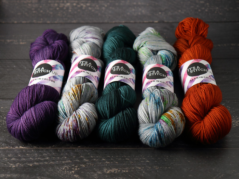 It's a Stitch Up Favourite Sock in 'Brixton Purple', 'Ore', 'Spirulina' and 'Bracken'
