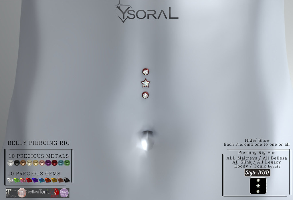 ~~ Ysoral ~~.:Luxe N3 Set Belly Piercing Lydia :.