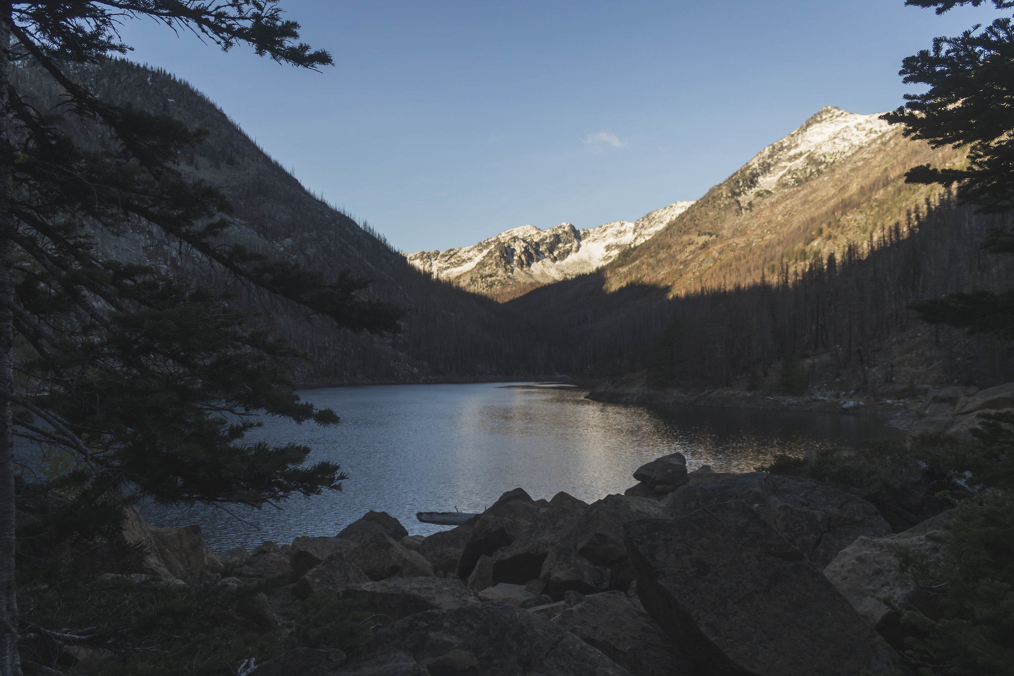 Eightmile Lake at last