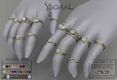 ~~ Ysoral ~~.:Luxe Set 8 Rings Nemesis:.(BENTO)