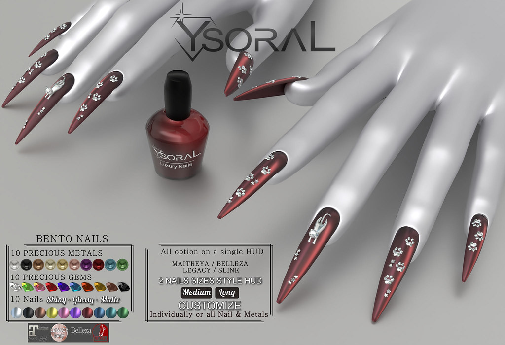 ~~ Ysoral ~~ .: Luxe Nails Kitty Stars :.(BENTO NAILS STYLE HUD)