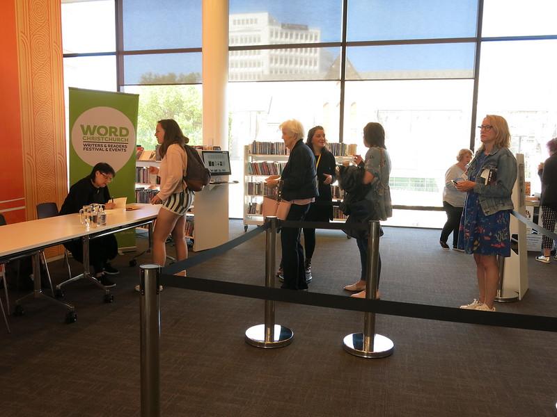 Pip Adam and signing queue