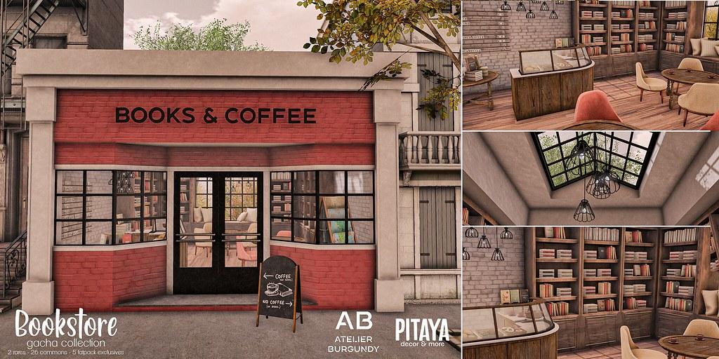 Atelier Burgundy + Pitaya . Bookstore AD