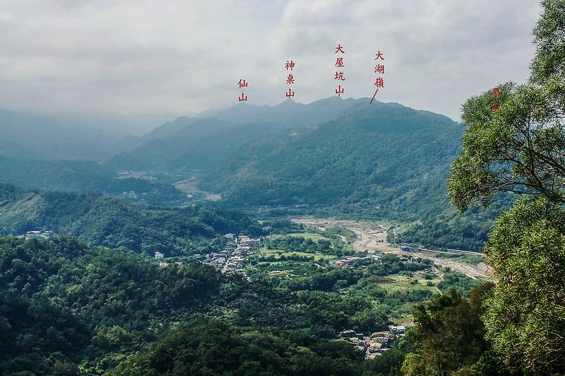 猿山、獅頭山山徑裸岩展望點西南遠眺象、神、仙連稜 (2)