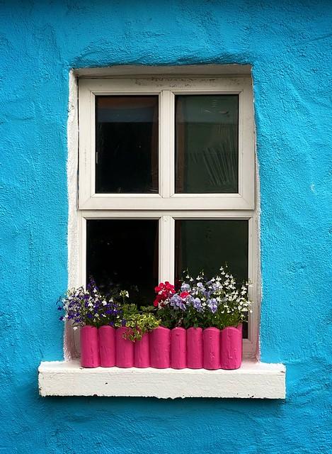 Cottage window, Castlegregory, Co Kerry
