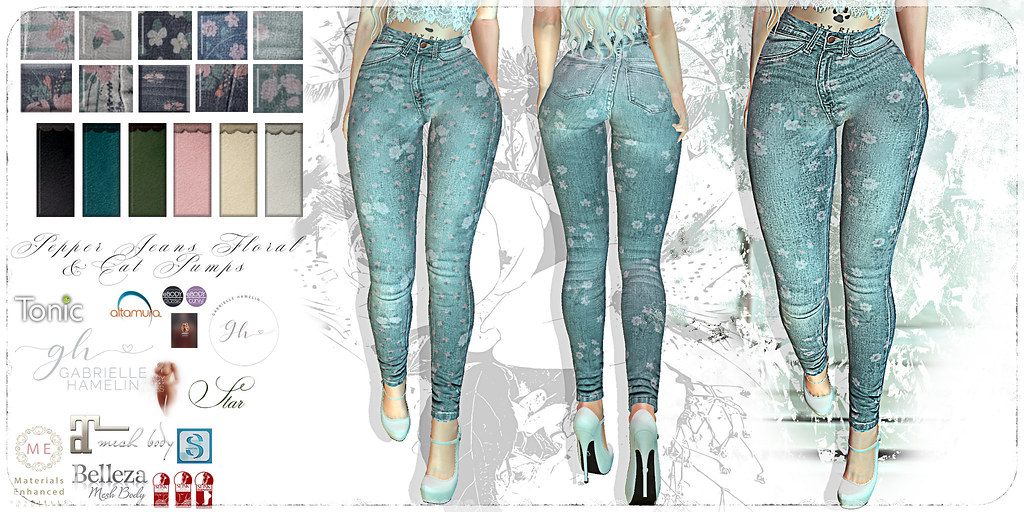Pepper-Jeans-Florals-Cat-Pumps-Suede