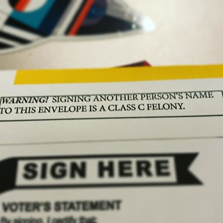 This envelope knows more about voter fraud than our current president does... | by pedersound