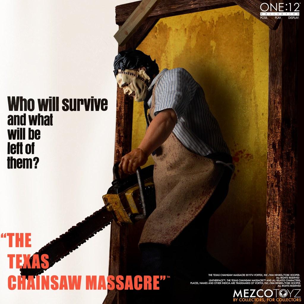 MEZCO ONE:12 COLLECTIVE 系列《德州電鋸殺人狂》皮臉 可動人偶曝光!