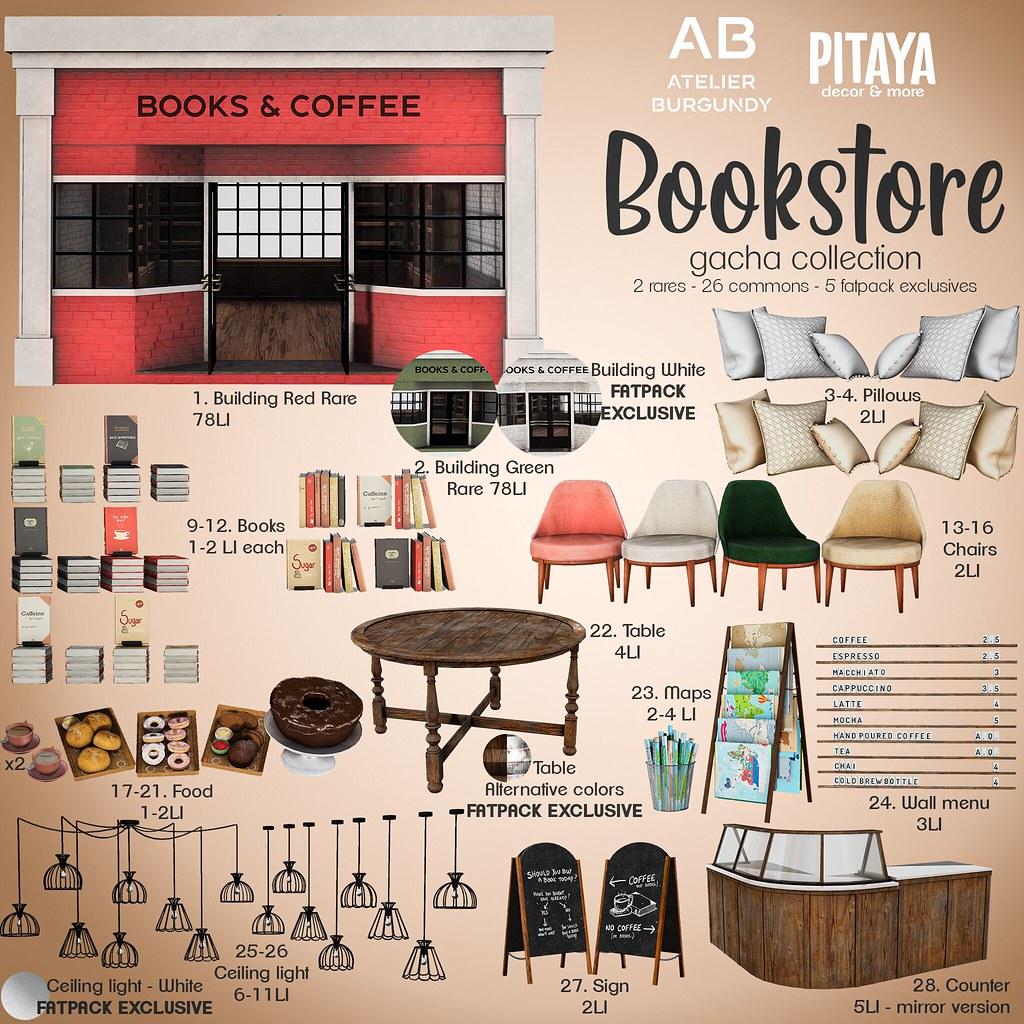 Atelier Burgundy + Pitaya . Bookstore – Gacha Key