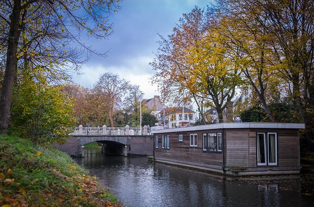Houseboat by Wittevrouwenbrug, Utrecht