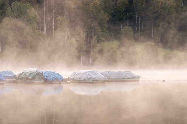 Boats in the mist (explored)