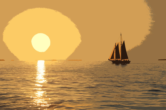 Key West sunset-Tampered with a bit
