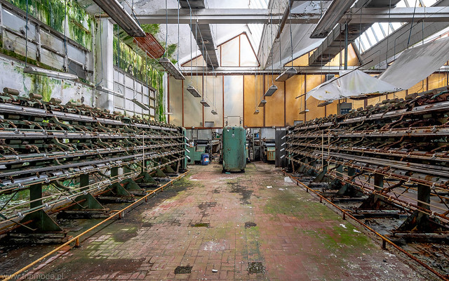Decayed textile factory