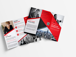 Business Trifold brochure | by CreativeAbdull