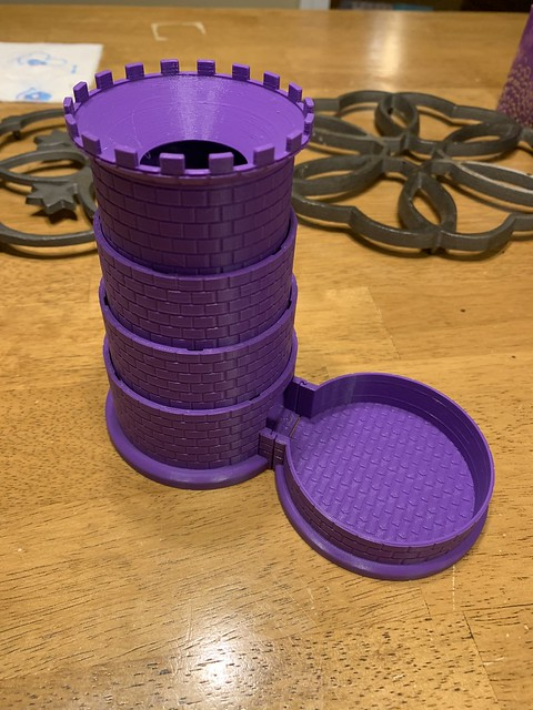 Collapsible Dice Tower (purple)