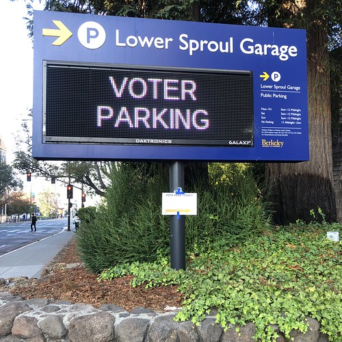 Free, for a change--VOTER PARKING